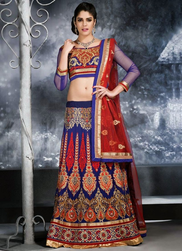 Embroidered Engagement-Wedding-Bridal-A Line Fancy Lehenga-Choli Dress for Brides-Dulhan-6