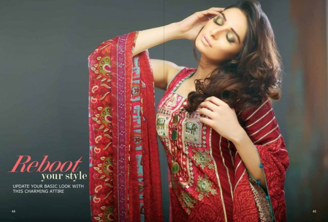 Hadiqa Kiani New Girls-Women Fashion Spring-Summer Wear Dress Vol 1-9