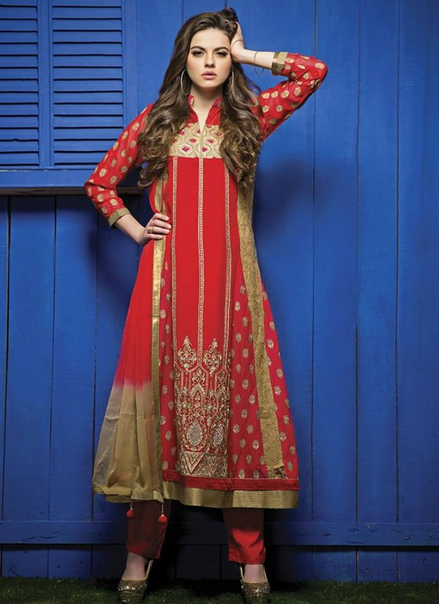 Indian Bollywood Celebrities Girls Valentine Day Suits