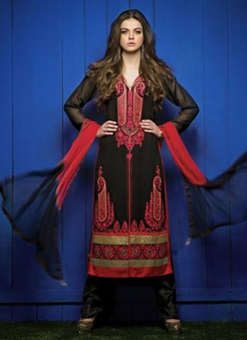 Indian-Bollywood Celebrities-Girls Valentine Day Suits New Fashion Global Style-5