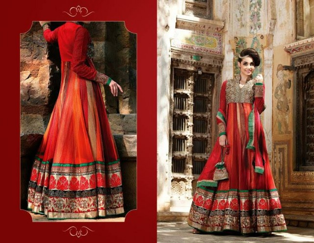 Indian Designer Beautiful Bridesmaids Gown Dresses Designs by Saheli Couture-2