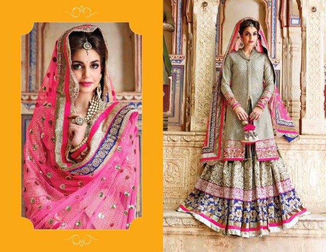 Indian Designer Beautiful Bridesmaids Gown Dresses Designs by Saheli Couture-5