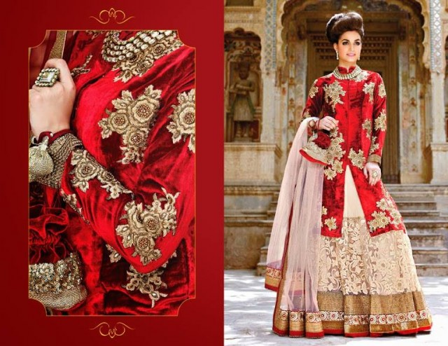 Indian Designer Beautiful Bridesmaids Gown Dresses Designs by Saheli Couture-6