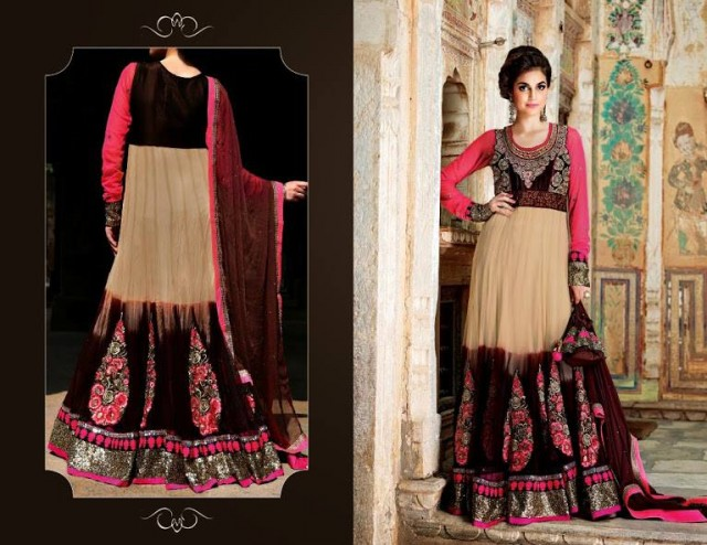 Indian Designer Beautiful Bridesmaids Gown Dresses Designs by Saheli Couture-7