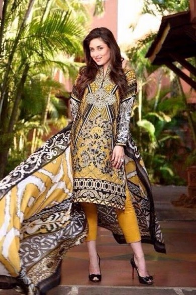 Kareena Kapoor Modeling in Faraz Manan Cresent Lawn Suits For Girls New Fashion Clothes-10