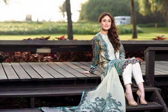Kareena Kapoor Modeling in Faraz Manan Cresent Lawn Suits For Girls New Fashion Clothes-2