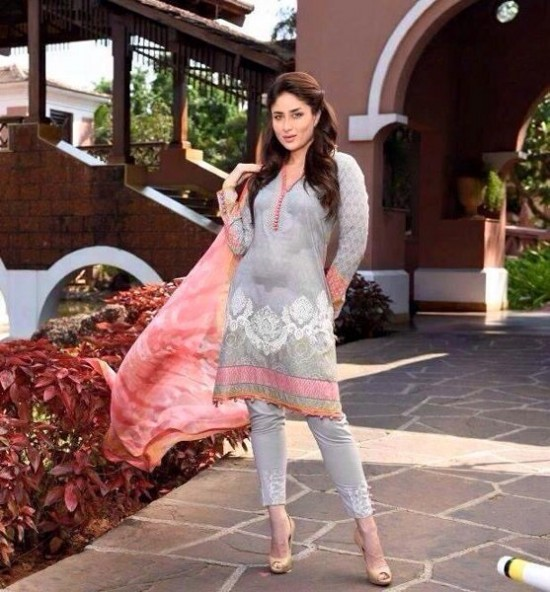 Kareena Kapoor Modeling in Faraz Manan Cresent Lawn Suits For Girls New Fashion Clothes-8