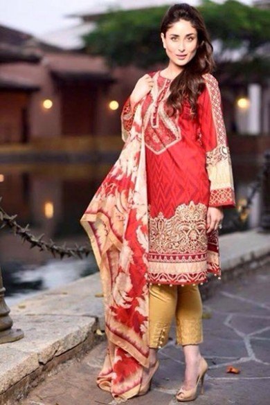 Kareena Kapoor Modeling in Faraz Manan Cresent Lawn Suits For Girls New Fashion Clothes-9