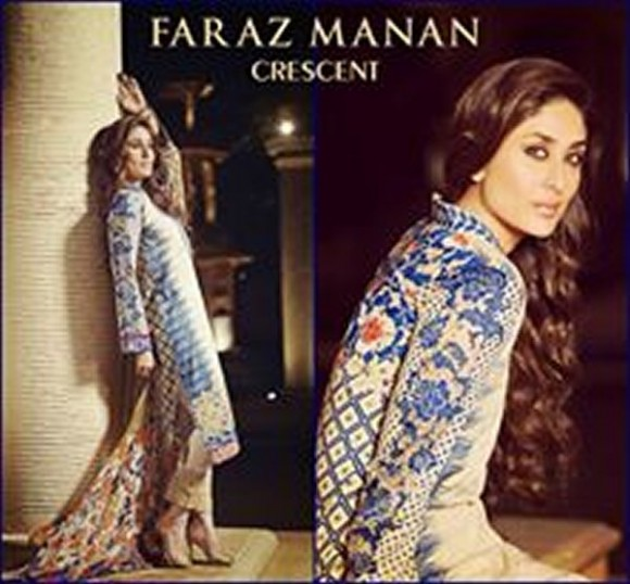 Kareena Kapoor Modeling in Faraz Manan Cresent Lawn Suits For Girls New Fashion Clothes-