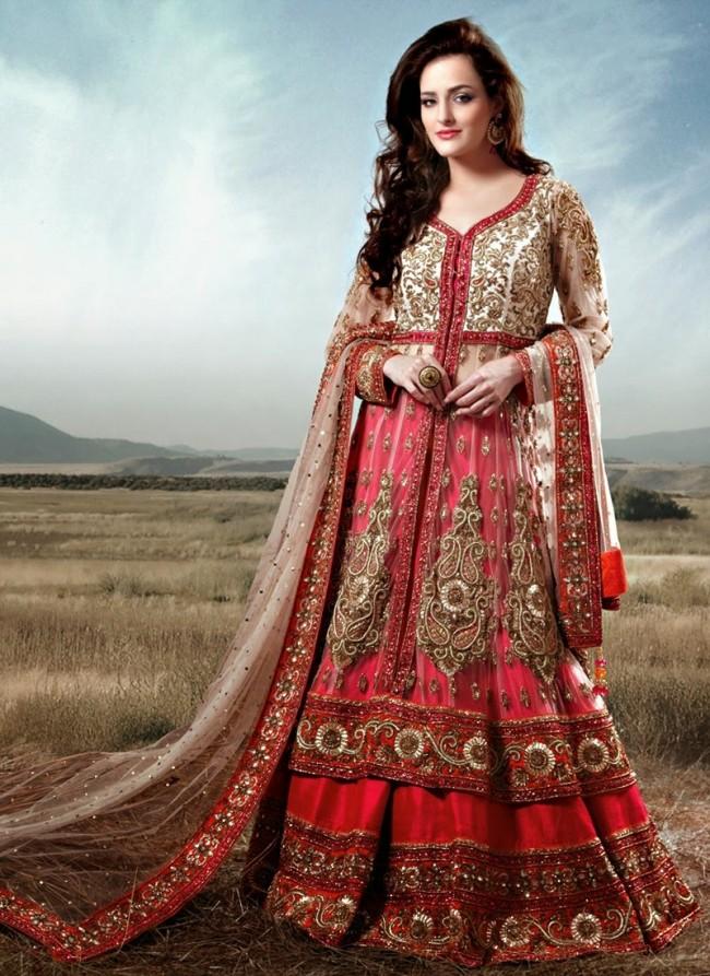 Stylish Embroidery Bridal-Wedding Lehanga-Choli Gown New Fashion Dress for Indian Brides-Dulhan-10