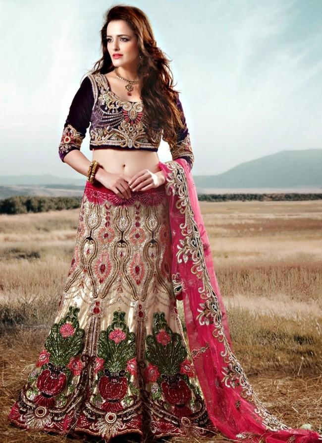 Stylish Embroidery Bridal-Wedding Lehanga-Choli Gown New Fashion Dress for Indian Brides-Dulhan-2