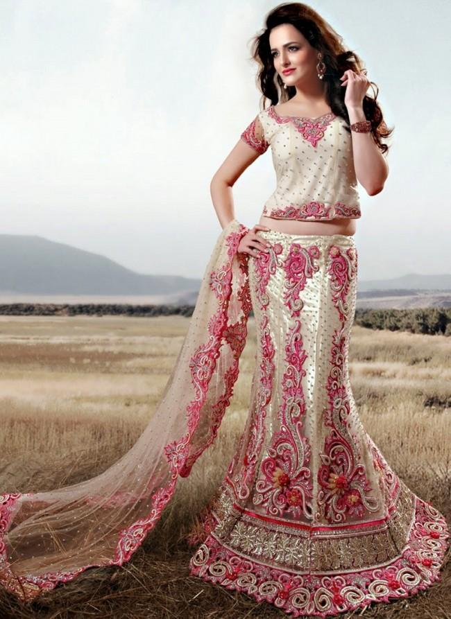 Stylish Embroidery Bridal-Wedding Lehanga-Choli Gown New Fashion Dress for Indian Brides-Dulhan-5