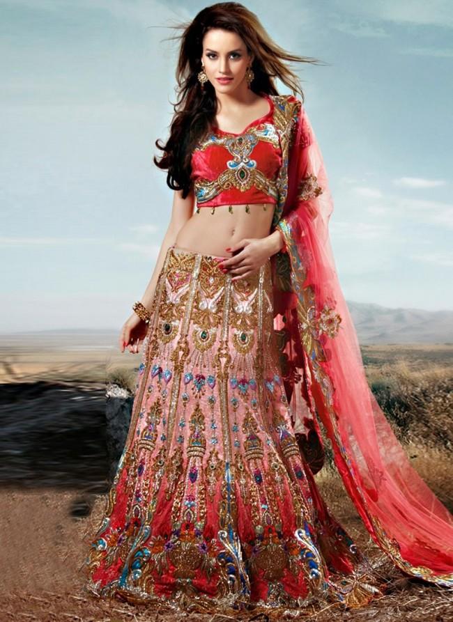 Stylish Embroidery Bridal-Wedding Lehanga-Choli Gown New Fashion Dress for Indian Brides-Dulhan-8