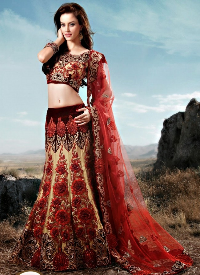 Stylish Embroidery Bridal-Wedding Lehanga-Choli Gown New Fashion Dress for Indian Brides-Dulhan-9