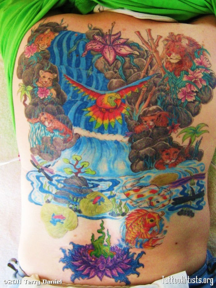 Beautiful Hottest Sexy Jungle Body Tattoo Designs Idea For