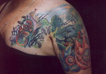 Beautiful Hottest & Sexy Jungle Body Tattoo Designs-Idea for Girls-Womens-Gents-8
