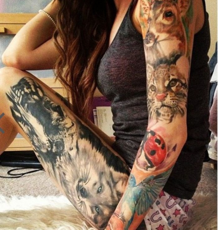 Beautiful Hottest & Sexy Jungle Body Tattoo Designs-Idea for Girls-Womens-Gents-
