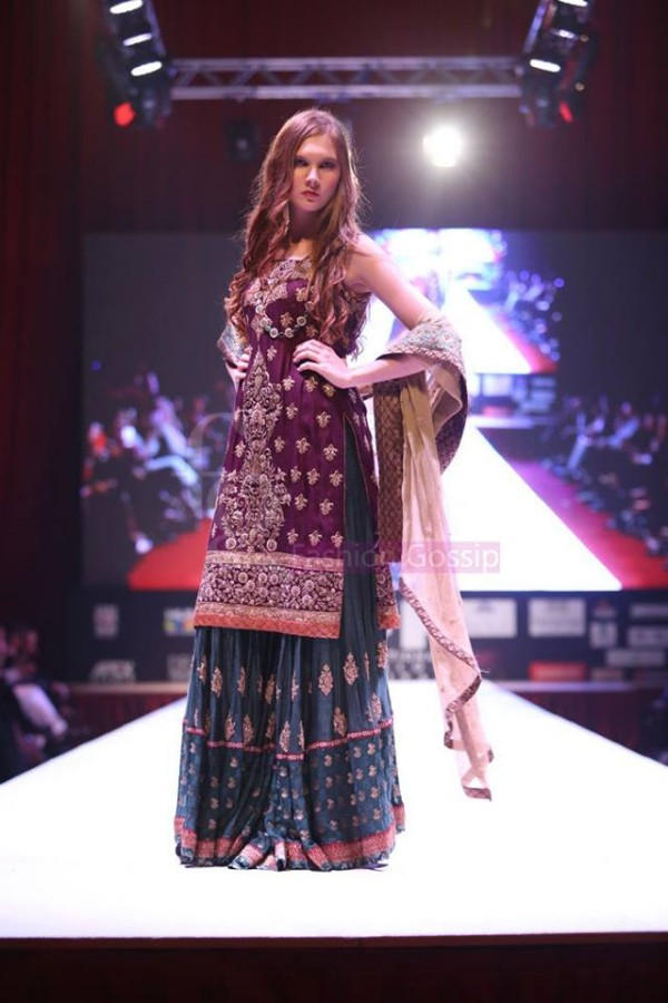 Dress Designer Umsha by Uzma Babar International Wedding-Bridal Fashion Show in Qatar-1