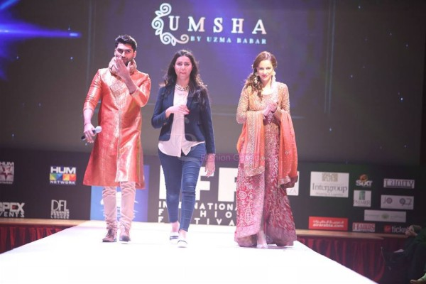 Dress Designer Umsha by Uzma Babar International Wedding-Bridal Fashion Show in Qatar-
