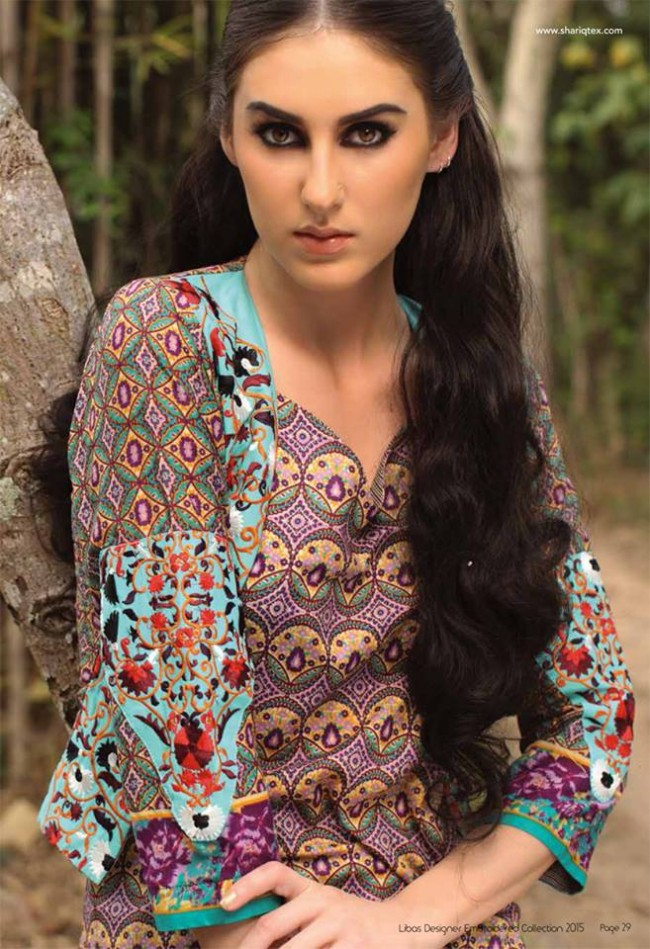 Fashion Dress Designer Libas Ladies Embroidered Wear Lawn Suits by Shariq Textiles-3