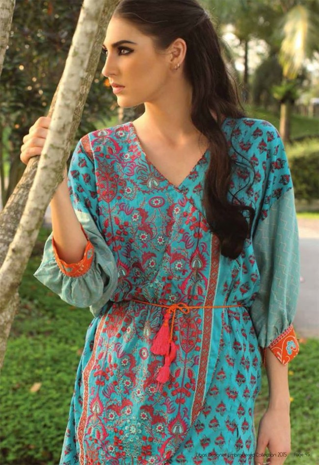 Fashion Dress Designer Libas Ladies Embroidered Wear Lawn Suits by Shariq Textiles-5