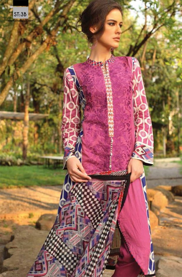 Fashion Dress Designer Libas Ladies Embroidered Wear Lawn Suits by Shariq Textiles-9