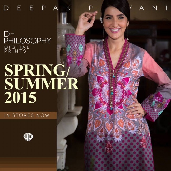 New Fashion Dress Designer Deepak Perwani Spring-Summer Clothes  for Girls-Women-