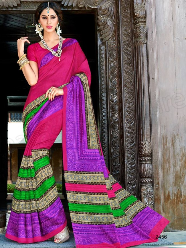 New Latest Bhagalpuri Elegant Saris-Sarees Dress By Natasha Couture-2