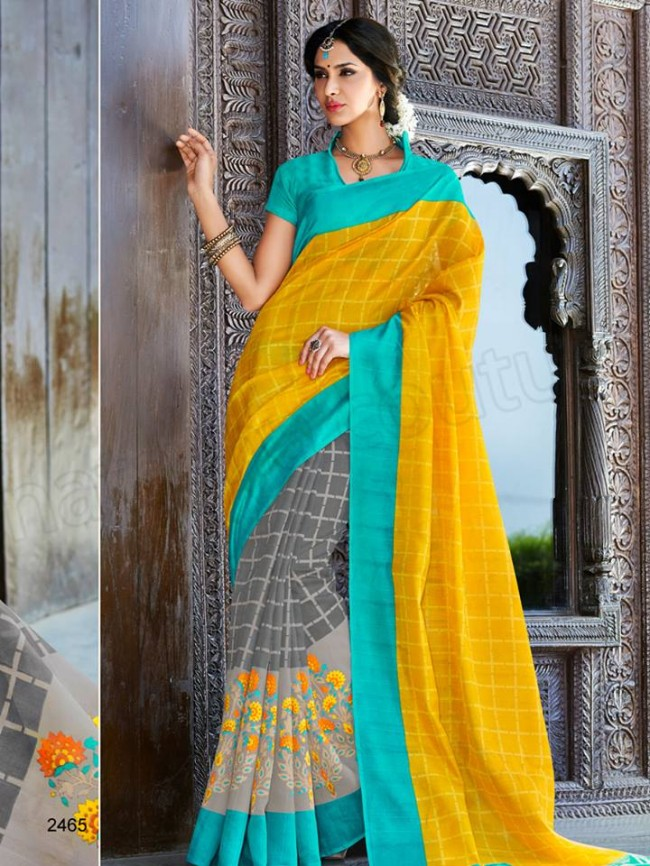 New Latest Bhagalpuri Elegant Saris-Sarees Dress By Natasha Couture-4