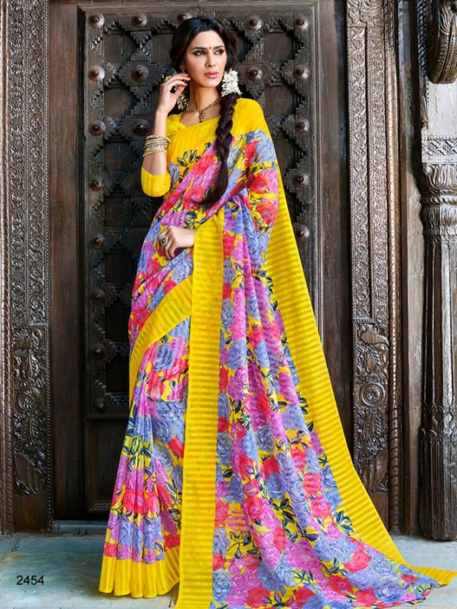 New Latest Bhagalpuri Elegant Saris-Sarees Dress By Natasha Couture-5