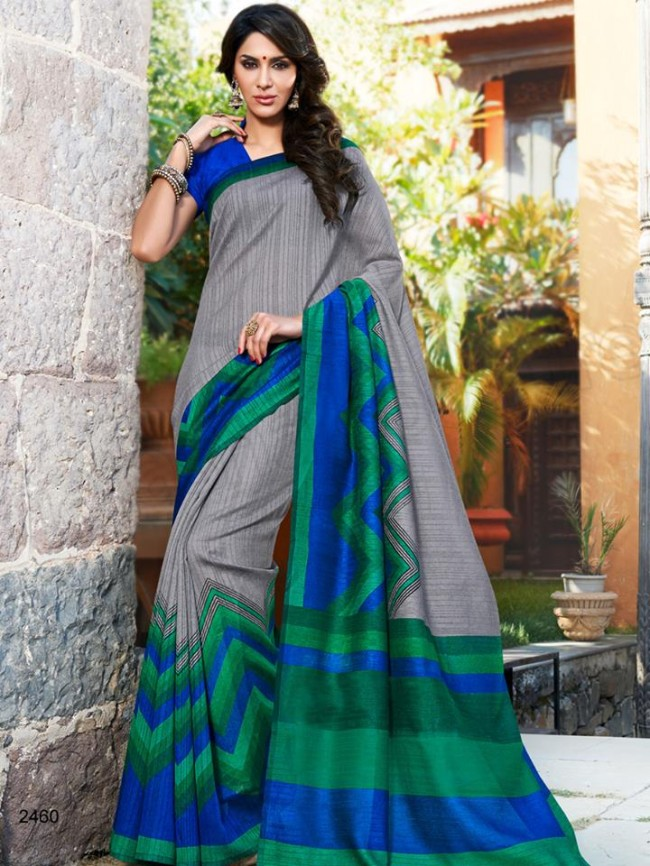 New Latest Bhagalpuri Elegant Saris-Sarees Dress By Natasha Couture-7