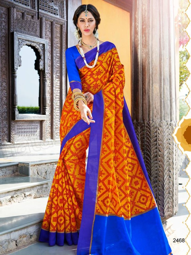 New Latest Bhagalpuri Elegant Saris-Sarees Dress By Natasha Couture-8