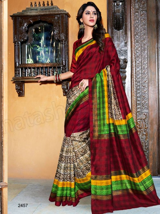 New Latest Bhagalpuri Elegant Saris-Sarees Dress By Natasha Couture-