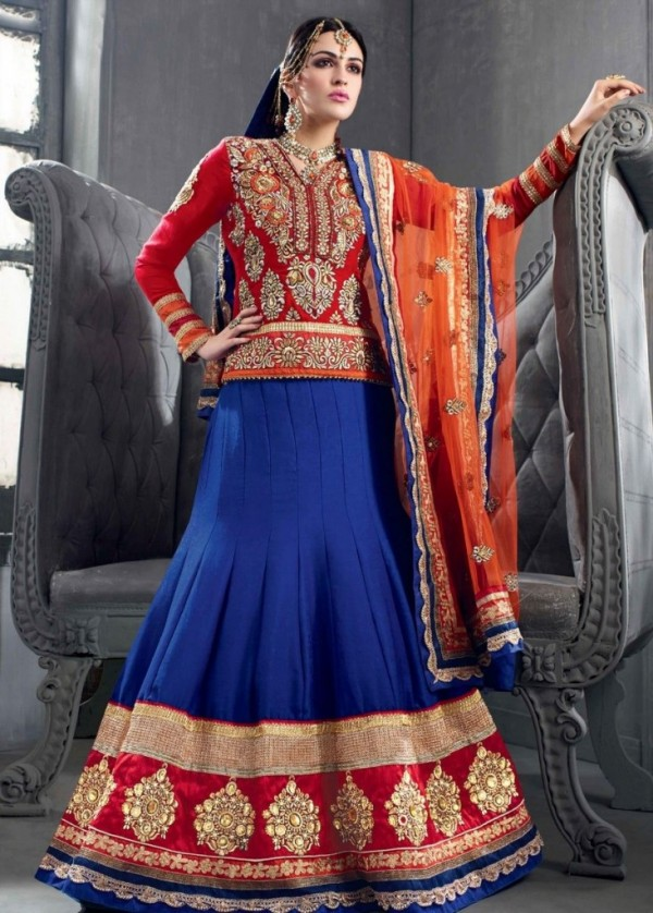 New Latest Velvet Design Indian-Pakistani Wedding-Bridal Lehanga-Choli-Sharara for Girls-2