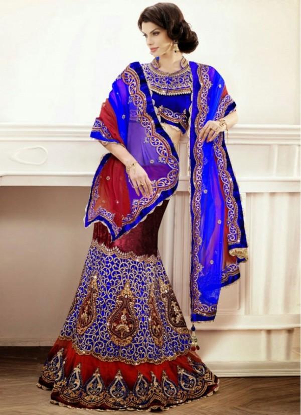 New Latest Velvet Design Indian-Pakistani Wedding-Bridal Lehanga-Choli-Sharara for Girls-3