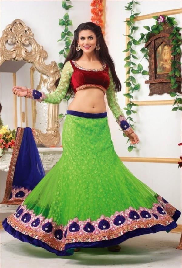 New Latest Velvet Design Indian-Pakistani Wedding-Bridal Lehanga-Choli-Sharara for Girls-4