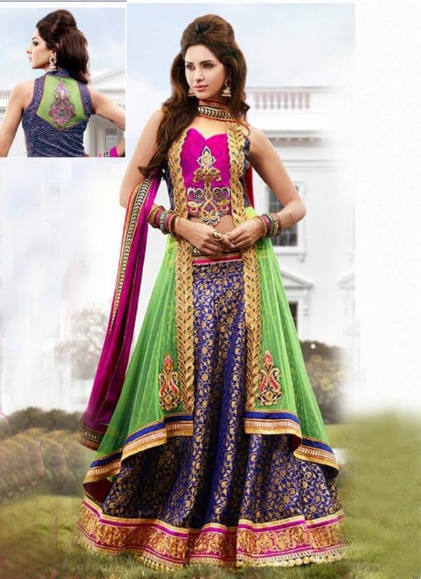 New Latest Velvet Design Indian-Pakistani Wedding-Bridal Lehanga-Choli-Sharara for Girls-7