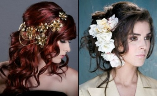 Stylish Western Wedding-Bridal Hairstyles for for Brides and Night-Evening Party Receptions-1