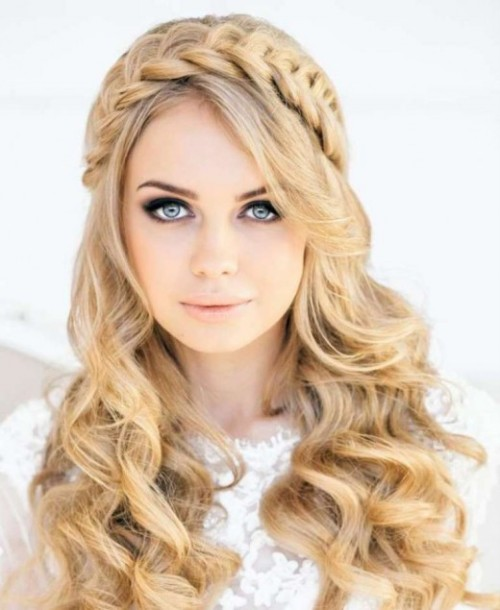 Stylish Western Wedding-Bridal Hairstyles for for Brides and Night-Evening Party Receptions-5