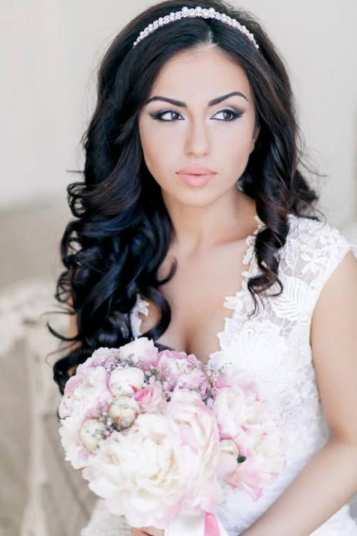 Stylish Western Wedding-Bridal Hairstyles for for Brides and Night-Evening Party Receptions-7