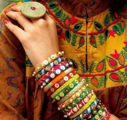 Beautiful Wedding-Bridal Wear Printed-Colorful Bracelet-Kangan-Bangles By Somi's Style-4