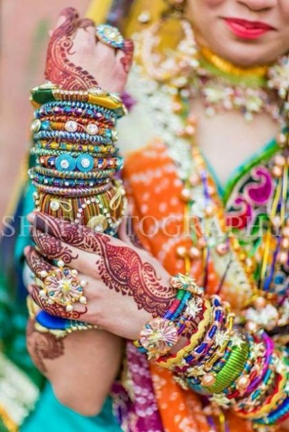 Beautiful Wedding-Bridal Wear Printed-Colorful Bracelet-Kangan-Bangles By Somi's Style-7