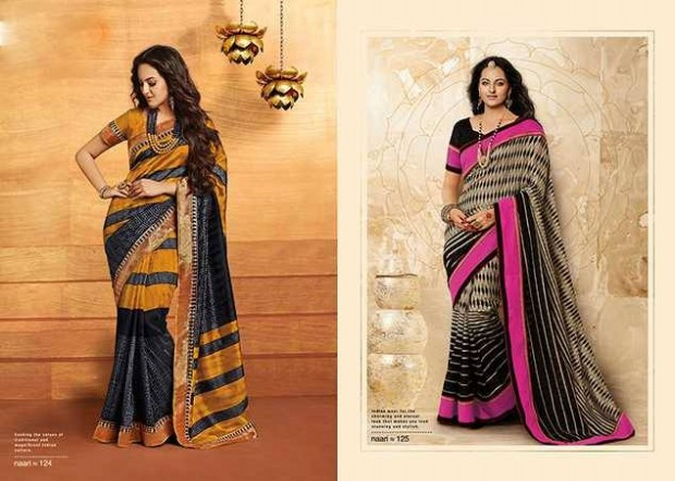 Bollywood-Indian Movies Actress-Model Sonakshi Sinha Wear Beautiful Colorful New Fashion Sarees-Sari-8