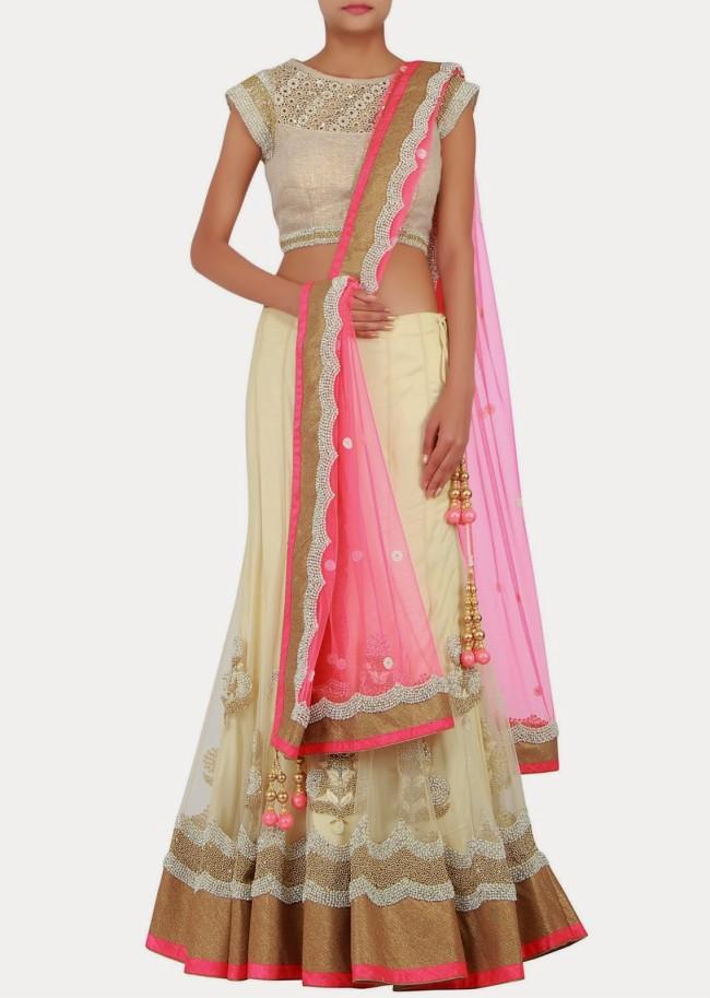 Engagement Wear Lehanga-Choli and Sharara Collection by New Fashion Dress Designer Kalkifashion-2