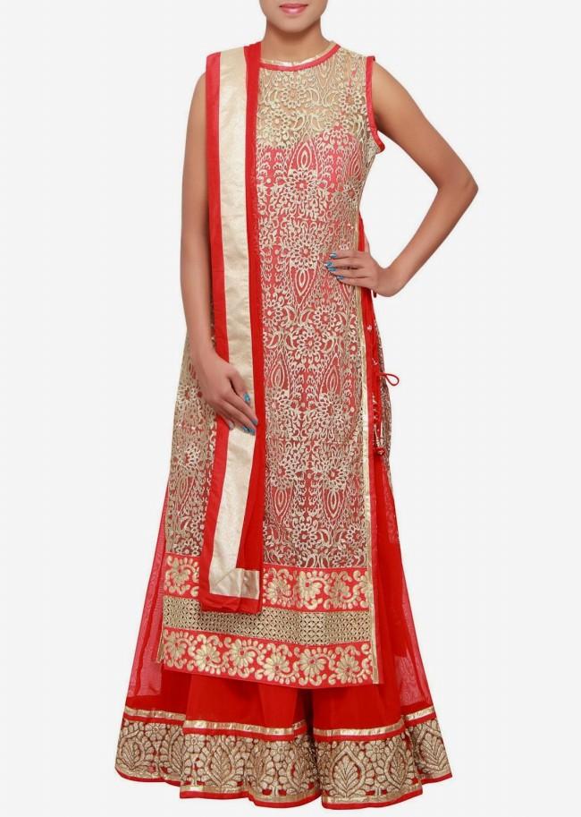 Engagement Wear Lehanga-Choli and Sharara Collection by New Fashion Dress Designer Kalkifashion-3