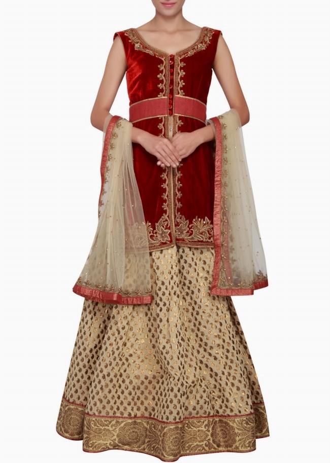 Engagement Wear Lehanga-Choli and Sharara Collection by New Fashion Dress Designer Kalkifashion-4