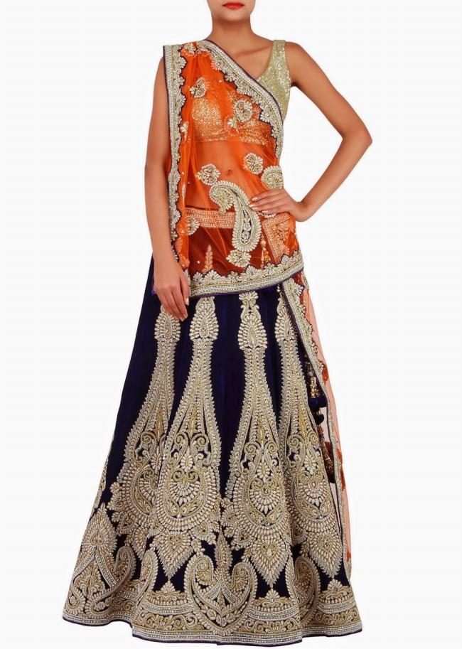 Engagement Wear Lehanga-Choli and Sharara Collection by New Fashion Dress Designer Kalkifashion-5