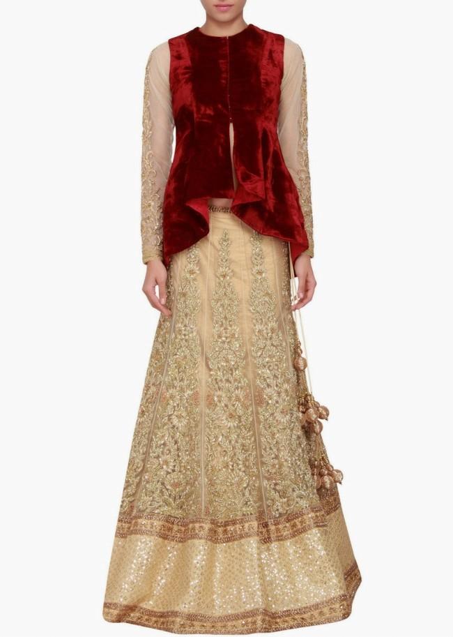 Engagement Wear Lehanga-Choli and Sharara Collection by New Fashion Dress Designer Kalkifashion-6