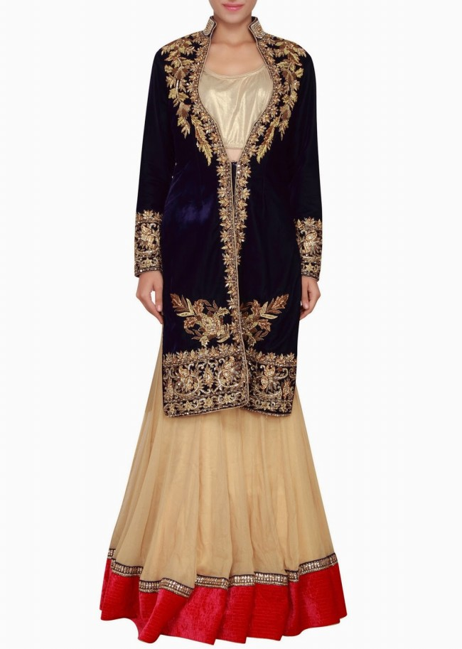 Engagement Wear Lehanga-Choli and Sharara Collection by New Fashion Dress Designer Kalkifashion-7