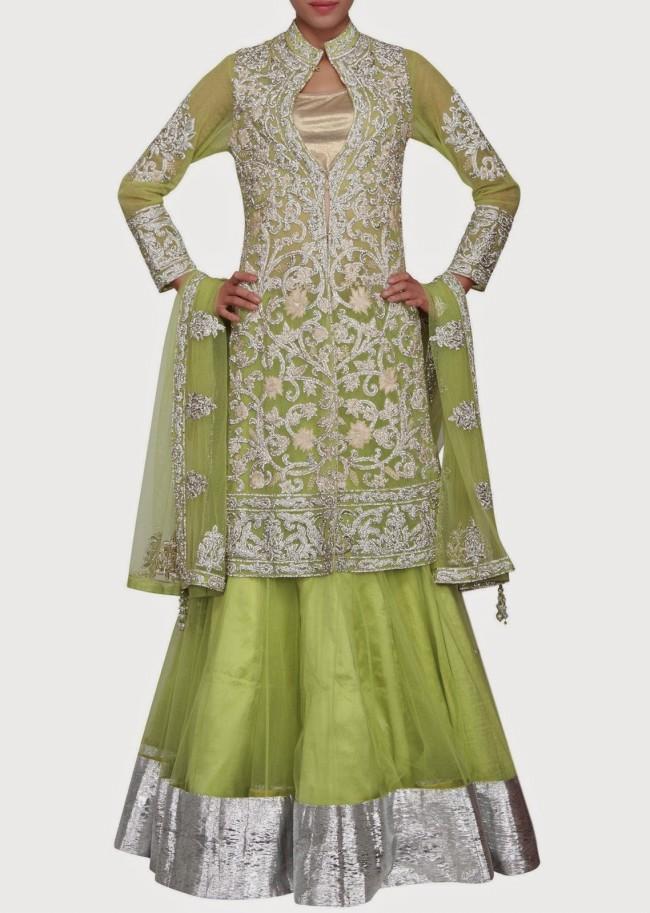 Engagement Wear Lehanga-Choli and Sharara Collection by New Fashion Dress Designer Kalkifashion-8